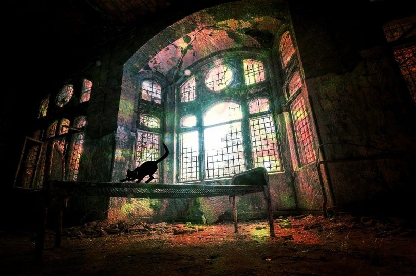 inside haunted house