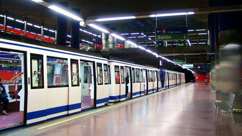 metro station in madrid