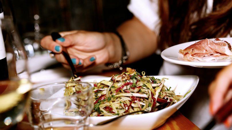 fine cut salad on plate