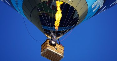 hot air balloon seen from below