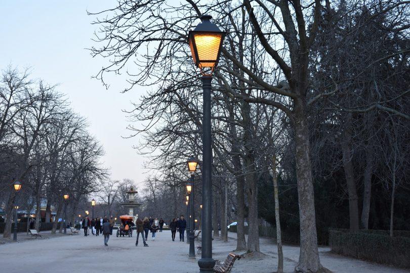 street in park in madrid