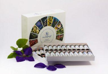 box of bach flower bottles