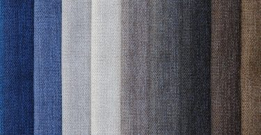 fabric in greys white and blues