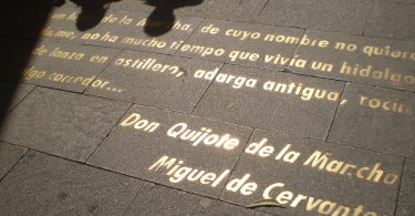 text on pavement madrid
