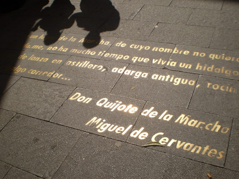 text on pavement madrid