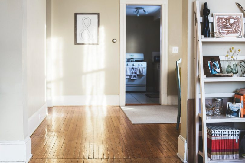 warm coloured hallway with wooden floors