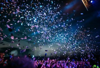 confetti at concert