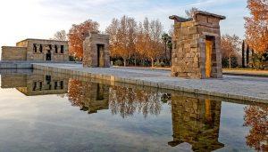 temple de debod in parque del oeste madrid