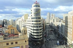 gran via in madrid from above