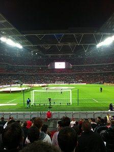 football match in stadium