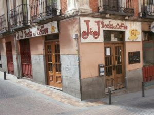 exterior view of j&j books and coffee