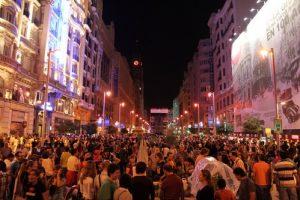 night out at Madrid Gran Via