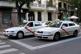 two Taxis in Madrid
