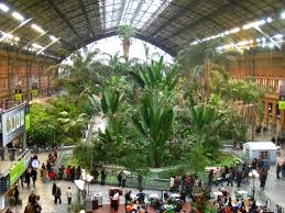 inside atocha train station madrid