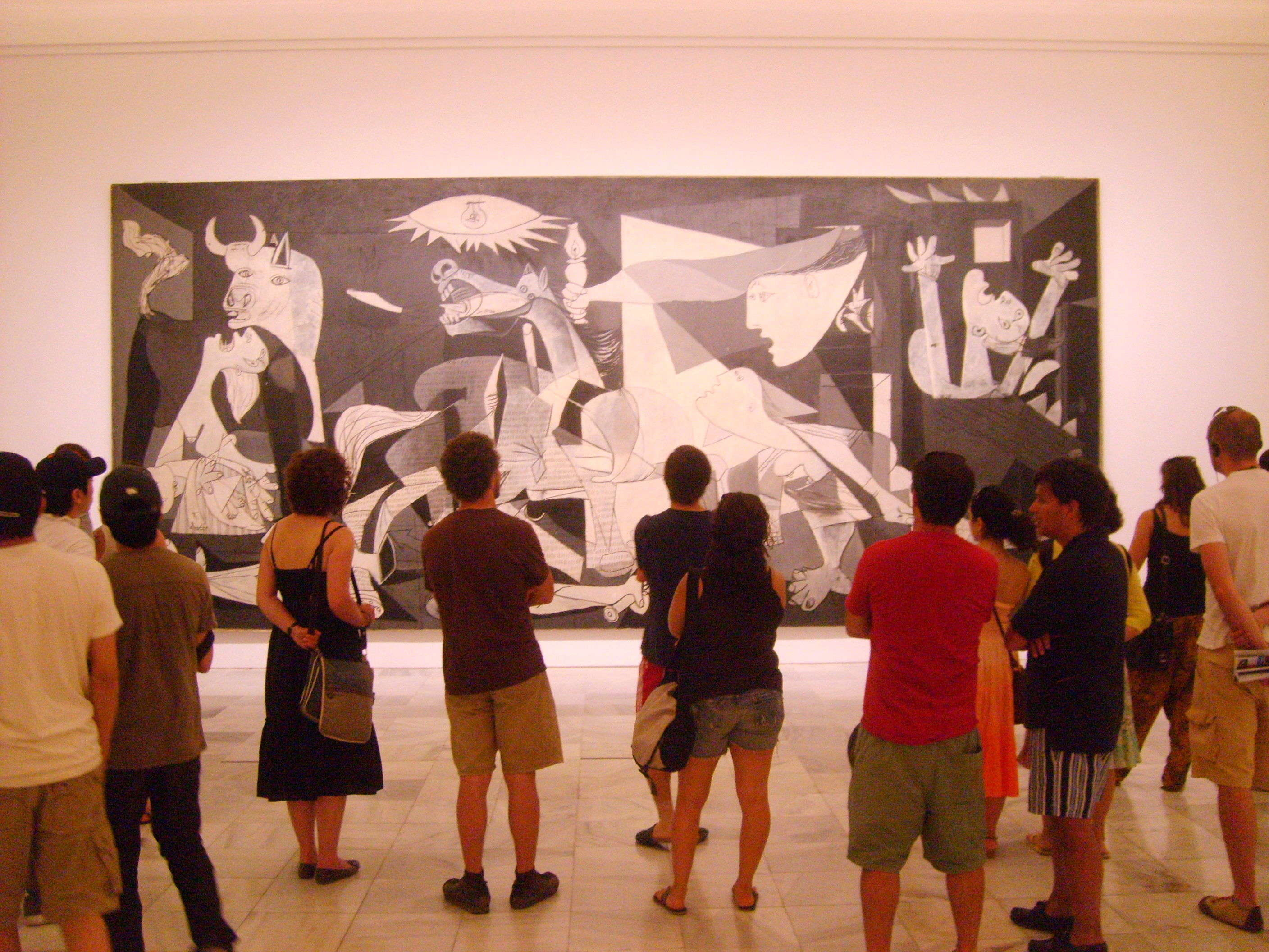 synthesis of guernica oil painting Picasso's guernica painting share flipboard email print the painting is an enormous mural-sized oil painting on canvas that is about eleven feet tall and twenty-five feet wide its size and scale contribute to its impact and power.