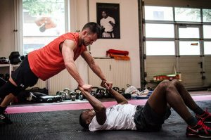crossfit with personal trainer