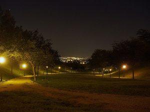 Cerro del Tío Pío Park at night