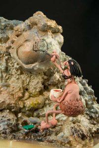prehistoric scene plastihistory exhibition madrid