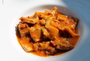 calluses, a typical madrid dish