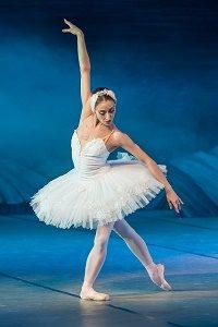ballerina with blue decor
