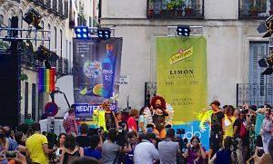 chueca neighbourhood during gay pride
