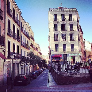 street in Malasaña Madrid