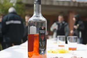 bottle of Etim vermouth on table