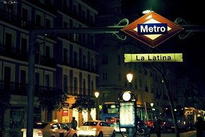 La Latina metro station in Madrid