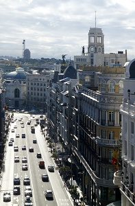 large street in madrid