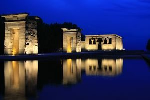 temple of debod in the evening