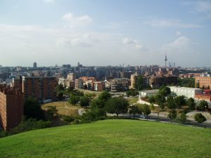 view of madrid from park