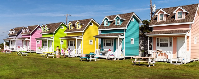 colourful tiny houses