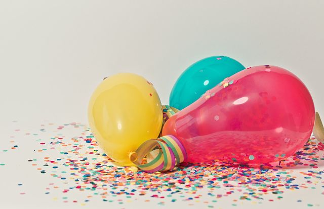 colourful balloons for carnaval